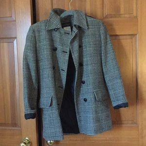Vintage Houndstooth Peacoat